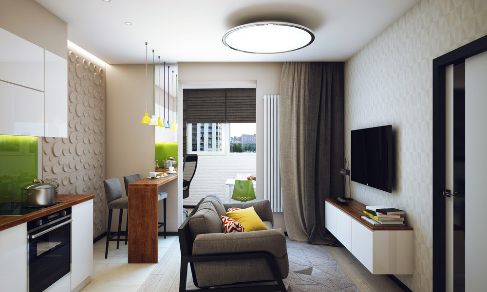 Minimalist 1 Bedroom Apartment Designed For A Young Man