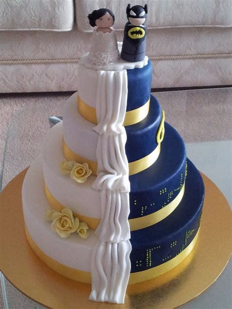 Groovy Batman & Bride Wedding Cake   Cakes by Aloma