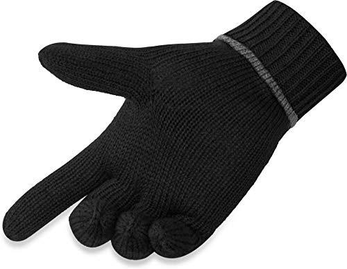 L//XL NEU 1 Paar Handschuhe Gloves Fingerhandschuhe schwarz//anthrazit Gr