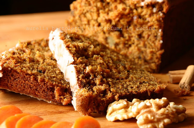 fetta cake carote e noci
