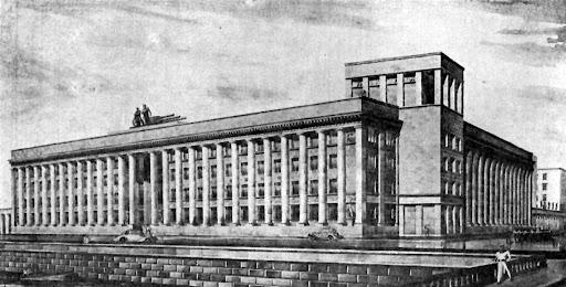 Проект здания Спецкурсов командного состава, Малоохтинский пр., 80. Д.П. Бурышкин