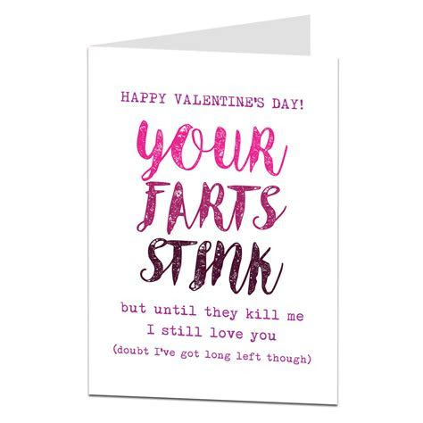Funny Fart Valentines Card   Designed & Printed By Lima Lima