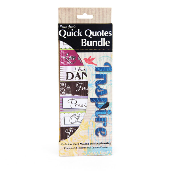 Quick Quotes  Bundle of Quotes and Phrases  Cardstock