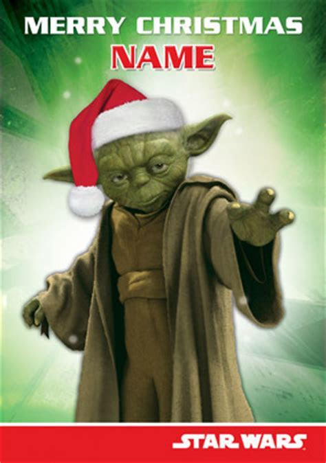 WWW.FUNKYPIGEON.COM   PERSONALISED Card   Star Wars   Yoda