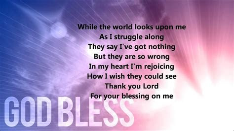 Thank You Lord For Your Blessings On Me (Lyrics)   YouTube