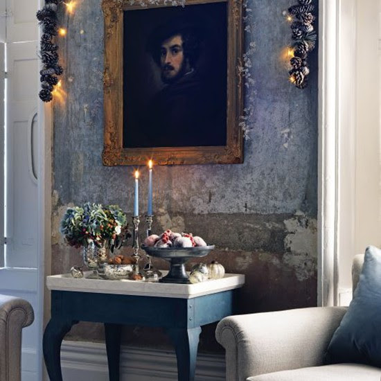 Get a wintery feel with woodland wallpaper | Christmas ...