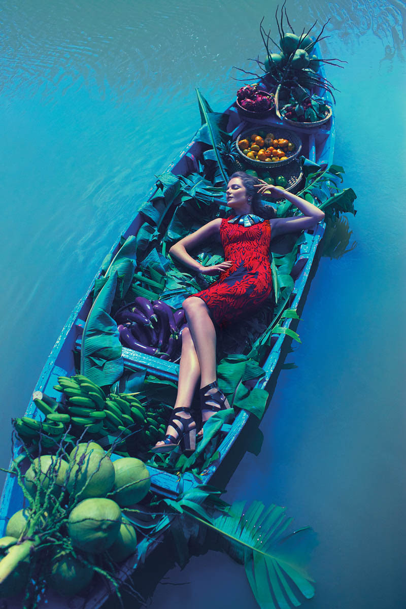 anthropologie catalog 1 Eniko Mihalik Poses in Vietnam for Anthropologie Shoot by Diego Uchitel