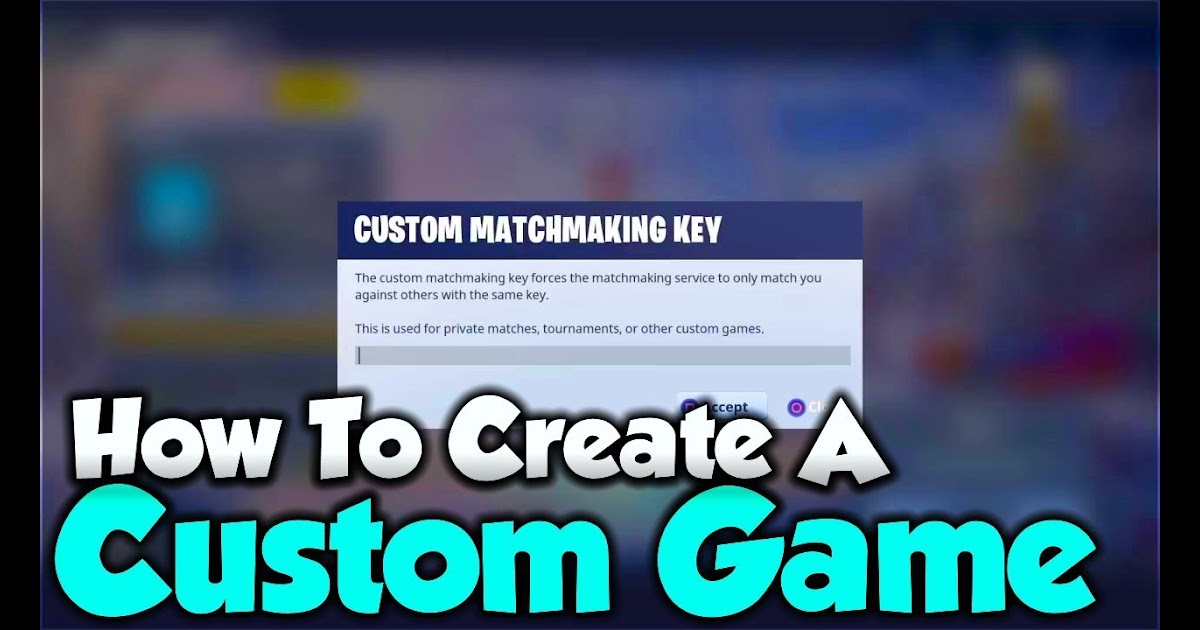 (!) Best matchmaking quiz fortnite custom game key 2019
