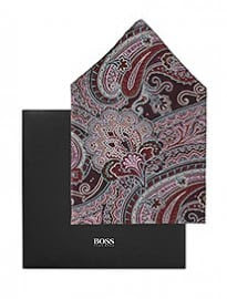 Dress Handkerchief Pocket Square 33x33 By Boss Black
