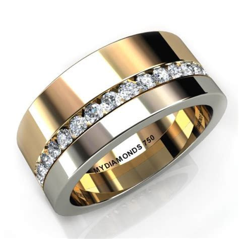 Aramis Mens Diamond Two Tone Ring   0.40 carats   Mens
