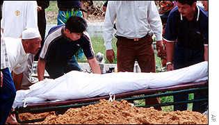 Relatives bury Mona Fandey