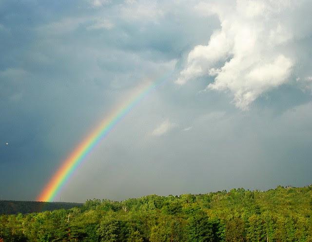A bright rainbow.