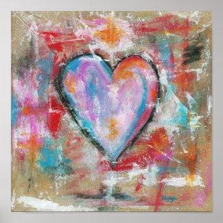 Reckless Heart Original Art Painting Poster