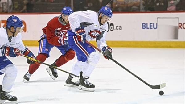Nikita Scherbak a participé au camp de perfectionnement des espoirs du Canadien. (Photo Radio-Canada)