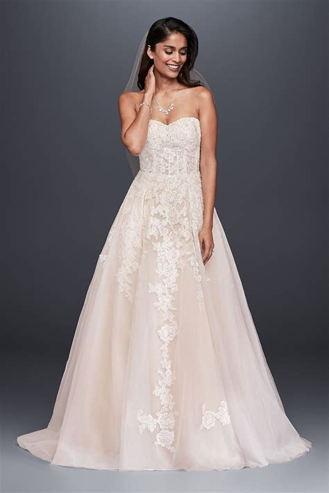Sheer Lace and Tulle Style Ball Gown Wedding Dress WG3861