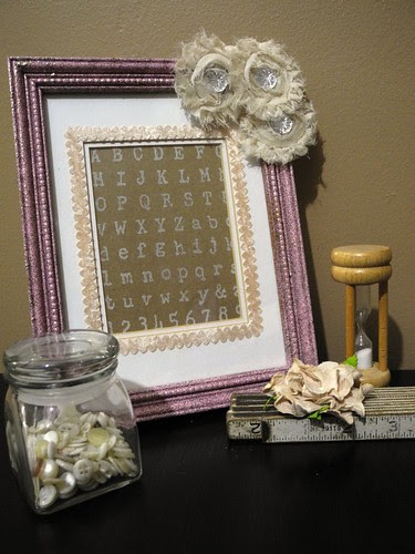 Embossed Alphabet Frame