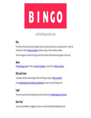 Printable Bingo Cards 1 75 - Fill Online, Printable, Fillable ...