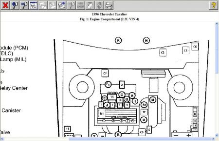 1996 Cavalier Engine Diagram Wiring Diagram