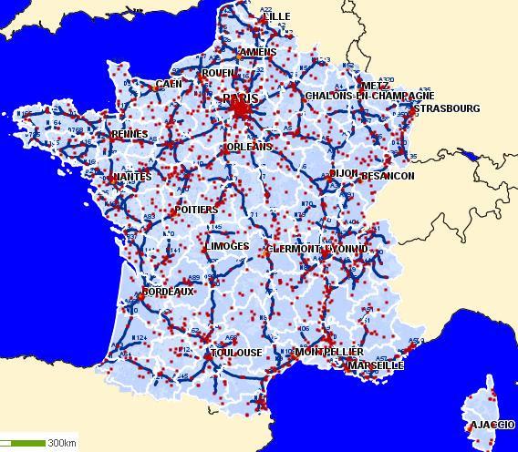 Calcul Ditineraire Routier Carte Routière De France