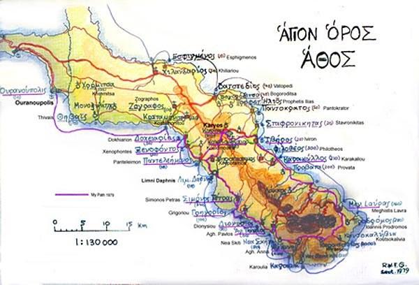Hiking around Mount AthosGreece Google Earth Community