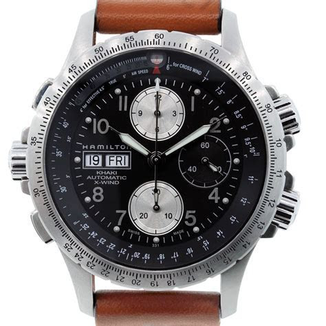 Hamilton H77616533 X Wind Khaki Chronograph Watch