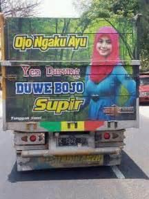kumpulan tulisan lucu  pantat truk pantura  indonesia