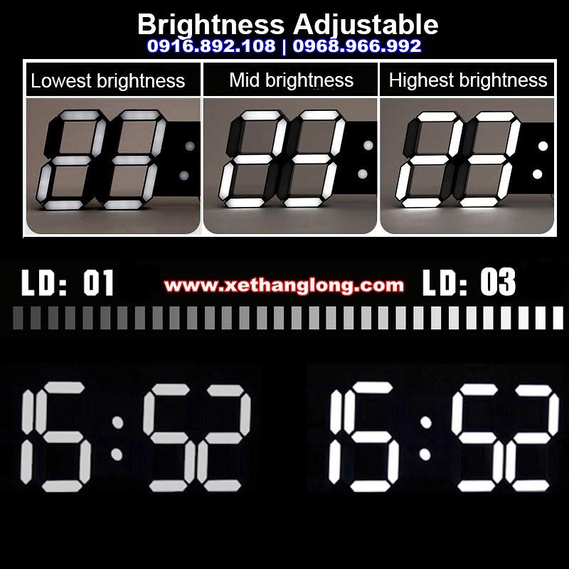 Các cấp độ sáng của đồng hồ