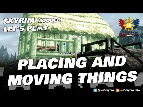 SKYRIM MODDED Let's Play! Building with ATRONACH CROSSING and COBB POSITIONER!