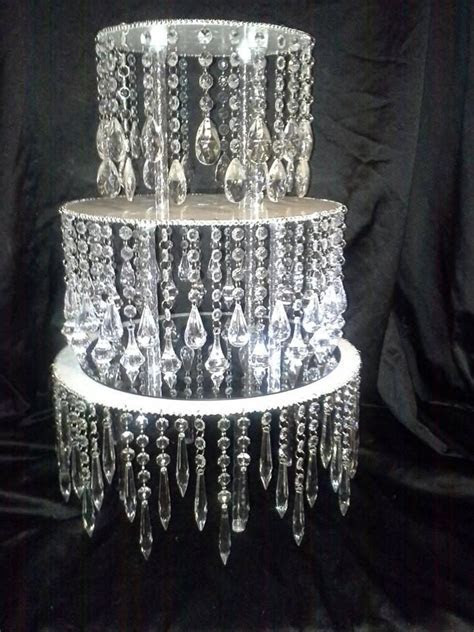 Round chandelier like stand   Unique cake stands and