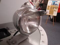 hooded headlight