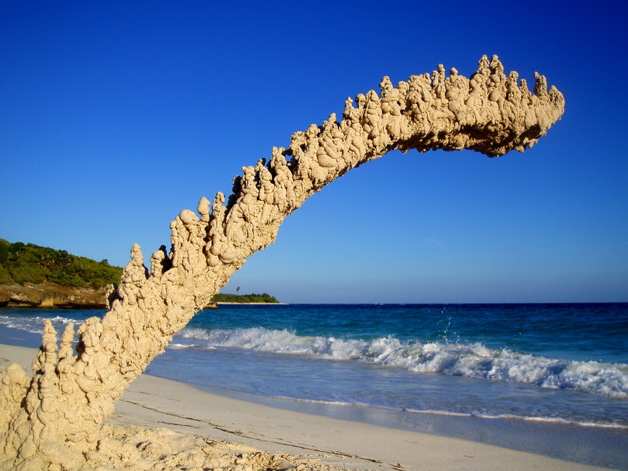 Peculiar Abstract Sandcastles by Sandcastle Matt sand