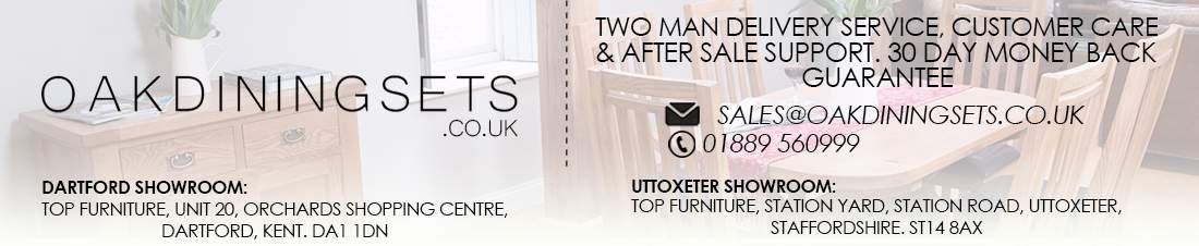 Visit Our Dining Furniture Showroom Warehouse Oakdiningsets Staffordshire Kent