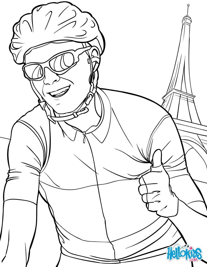 Coloriages Tour De France Chris Froome Frhellokidscom