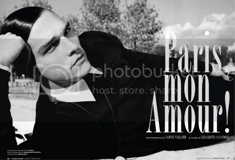 Essential Homme January/February 2011 - Paris, mon Amour @ StreetStylista.Homme