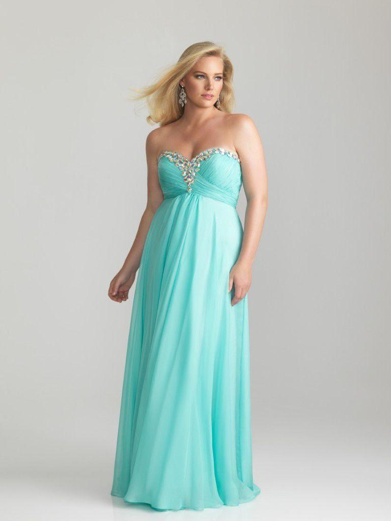 romantica chiffon abendkleider große größen lang blau