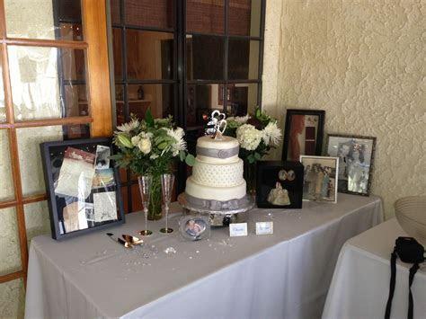 Cake table   60th anniversary   Anniversary ideas   Pinterest