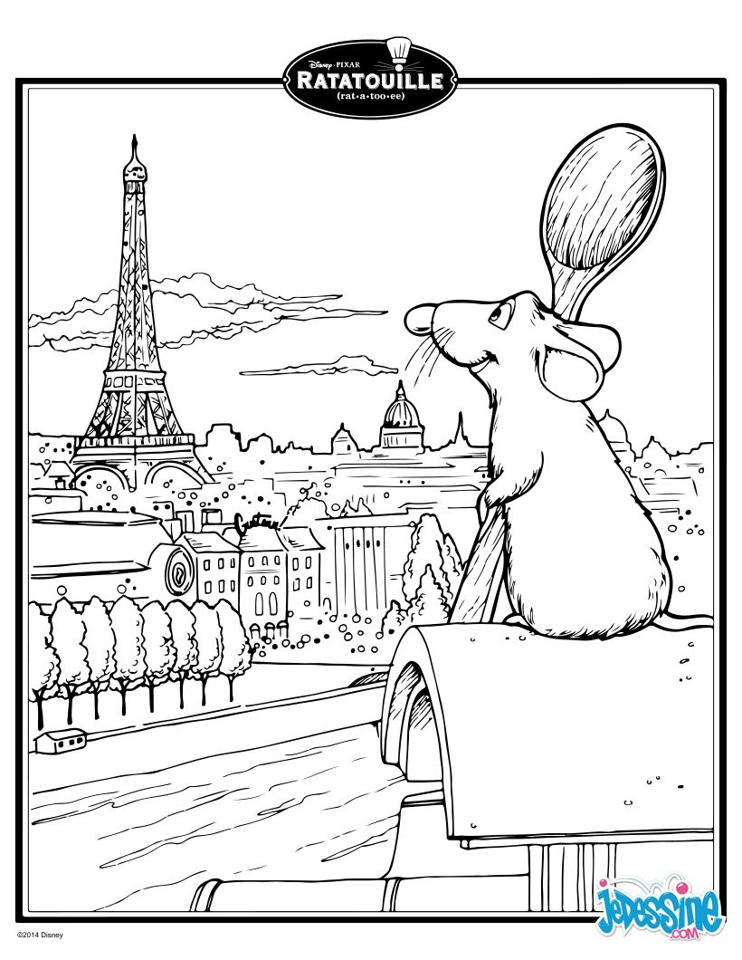 Coloriage Ratatouille Coloriages Gratuits à Imprimer Sur Jedessinecom