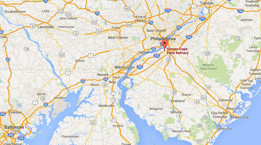 Massive Bush Fire Burning On Grounds Of New Jersey