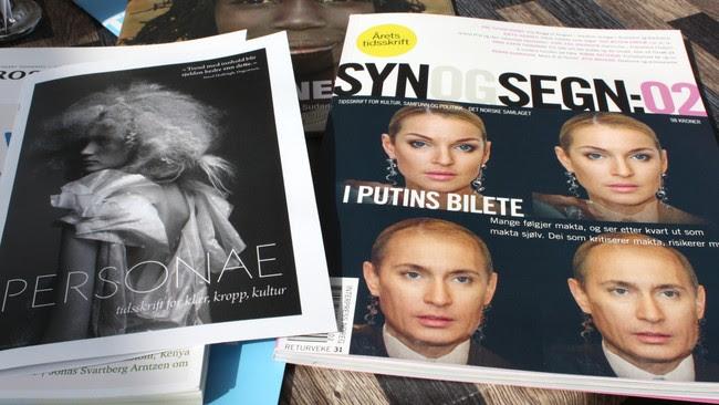Tidsskriftene 'Syn og segn' og 'Personae' (Foto: Hilde Bruvik/NRK)