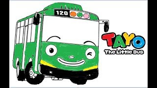 All Clip Of Learn Coloring Toto The Little Bus Tayo Bhclipcom