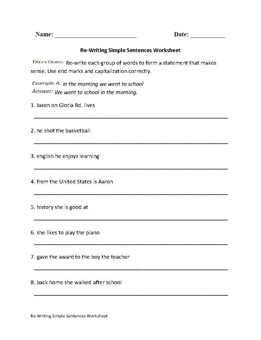 10 Best Images of Sentence Correction Worksheets  Simple Subject and Predicate Worksheets