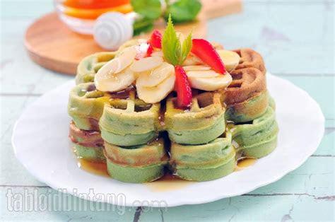 resep wafel pisang almond  unik  enak cantik tempoco