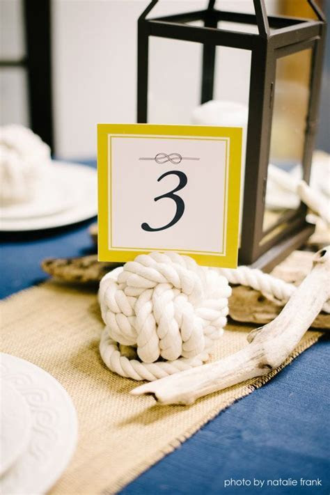 LARGE Nautical Knot Table Number Holder   Wedding Card