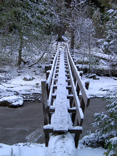Snow trail near Mt Hood, Oregon