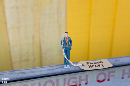 Miniature Street Art sculpture found in London