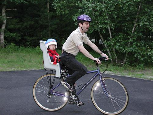Doug and Adam biking