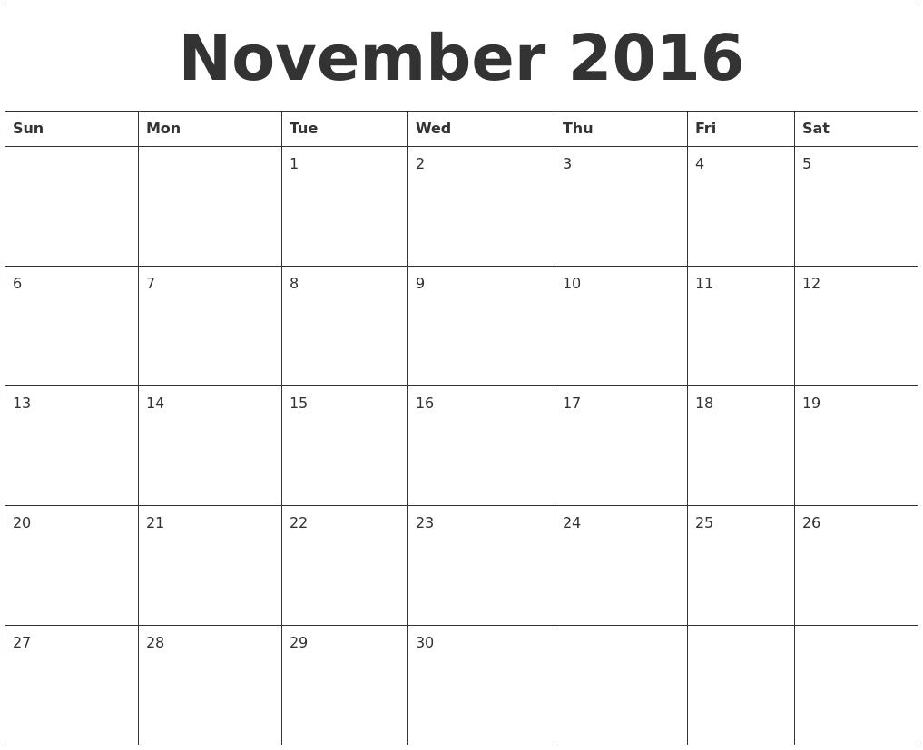 January 2017 Printable Daily Calendar