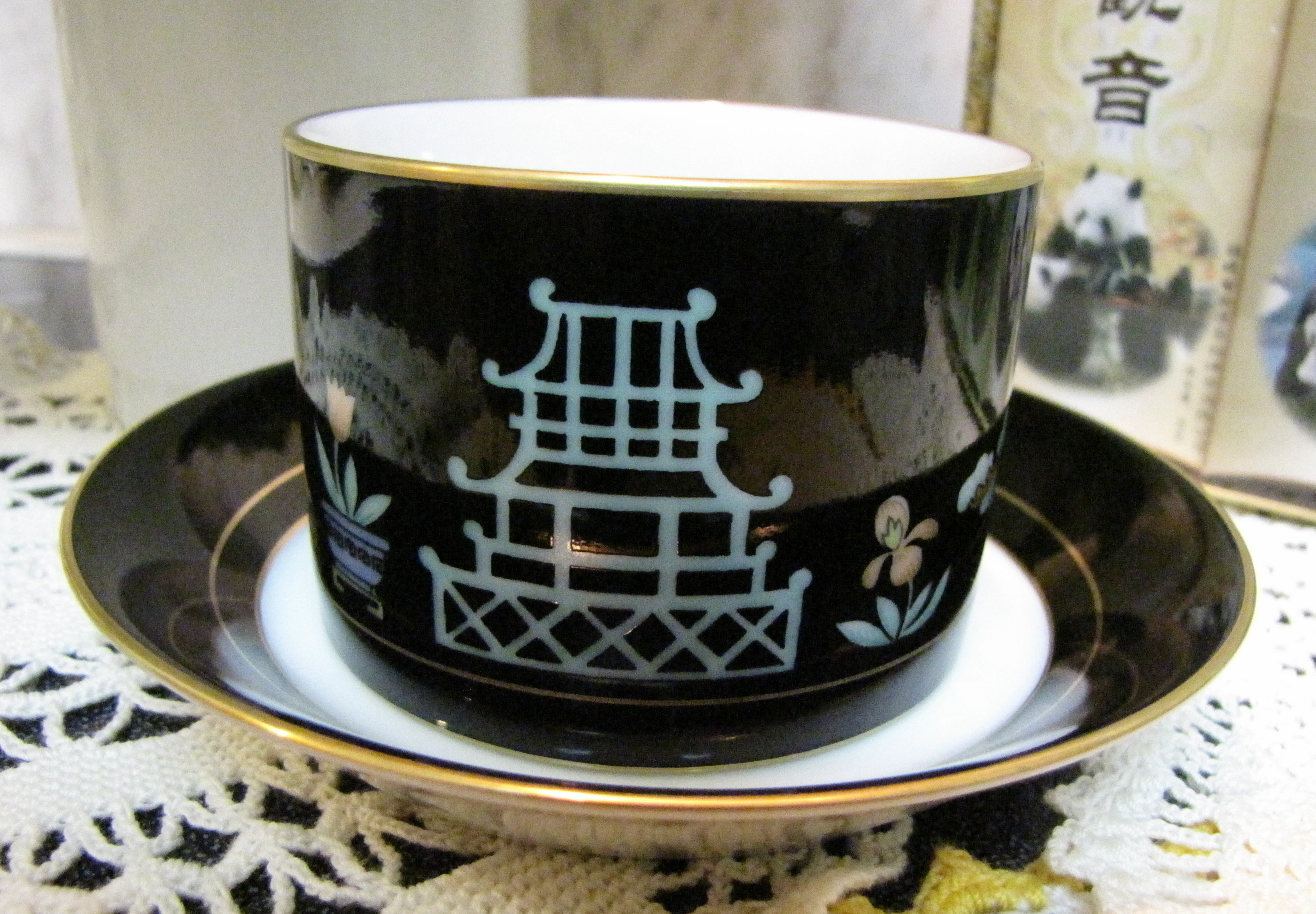 Fitz and Floyd Chinoiserie Tea Cup
