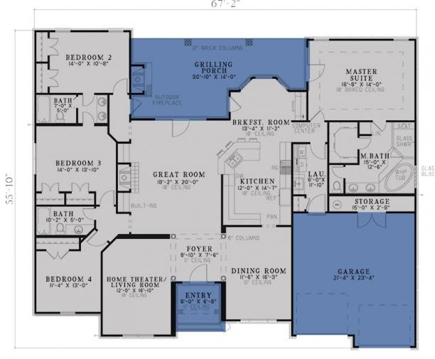 Traditional Plan 2 525 Square Feet 4 Bedrooms 3