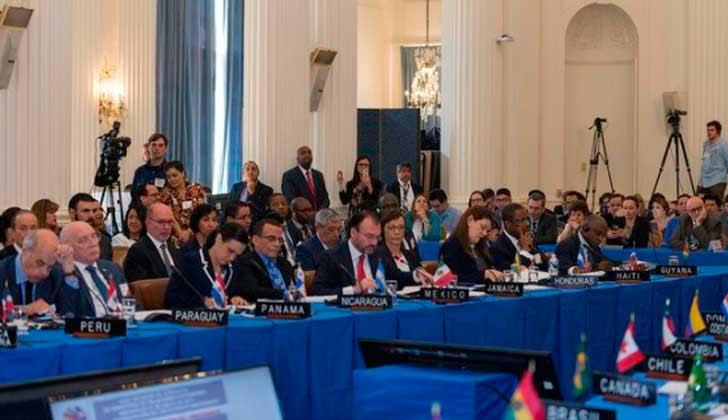 Cancilleres en la OEA no lograron consenso por Venezuela. Foto: OEA